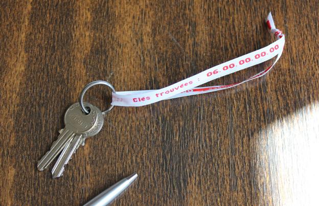 Rentrée des classes : marquez les clés et les vêtements de vos enfants !