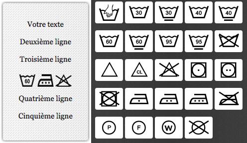 Créez des étiquettes de composition à votre image