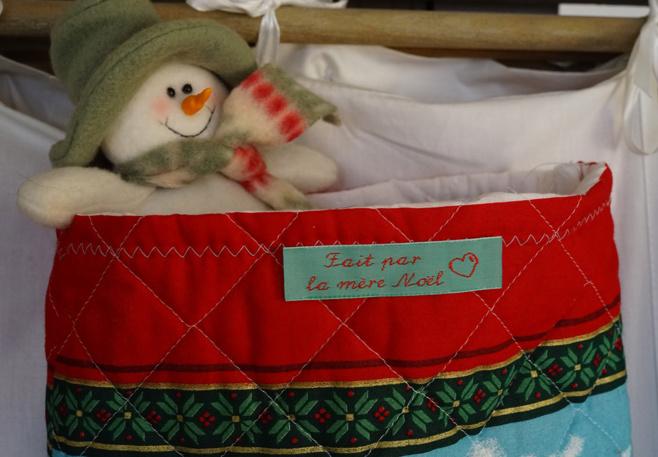 Une botte de Noël faite par la Mère Noël...