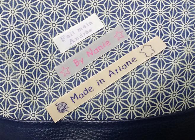 Idée cadeau : les étiquettes personnalisées tissées