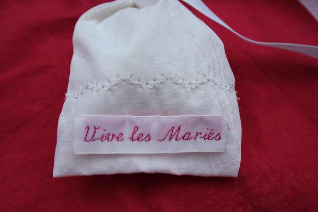 Un joli ruban en satin pour le plus beau jour de votre vie !