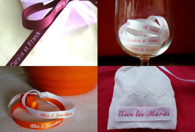 Personnalisez la décoration de votre mariage avec nos jolis rubans en satin