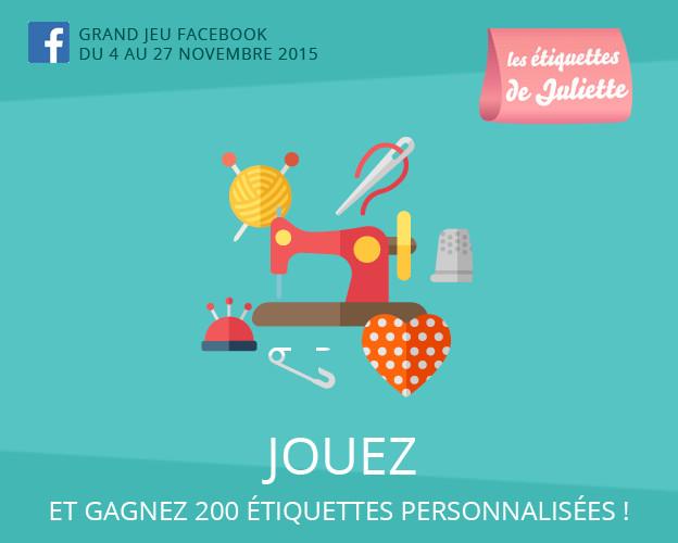 Concours Facebook : gagnez des étiquettes personnalisées !