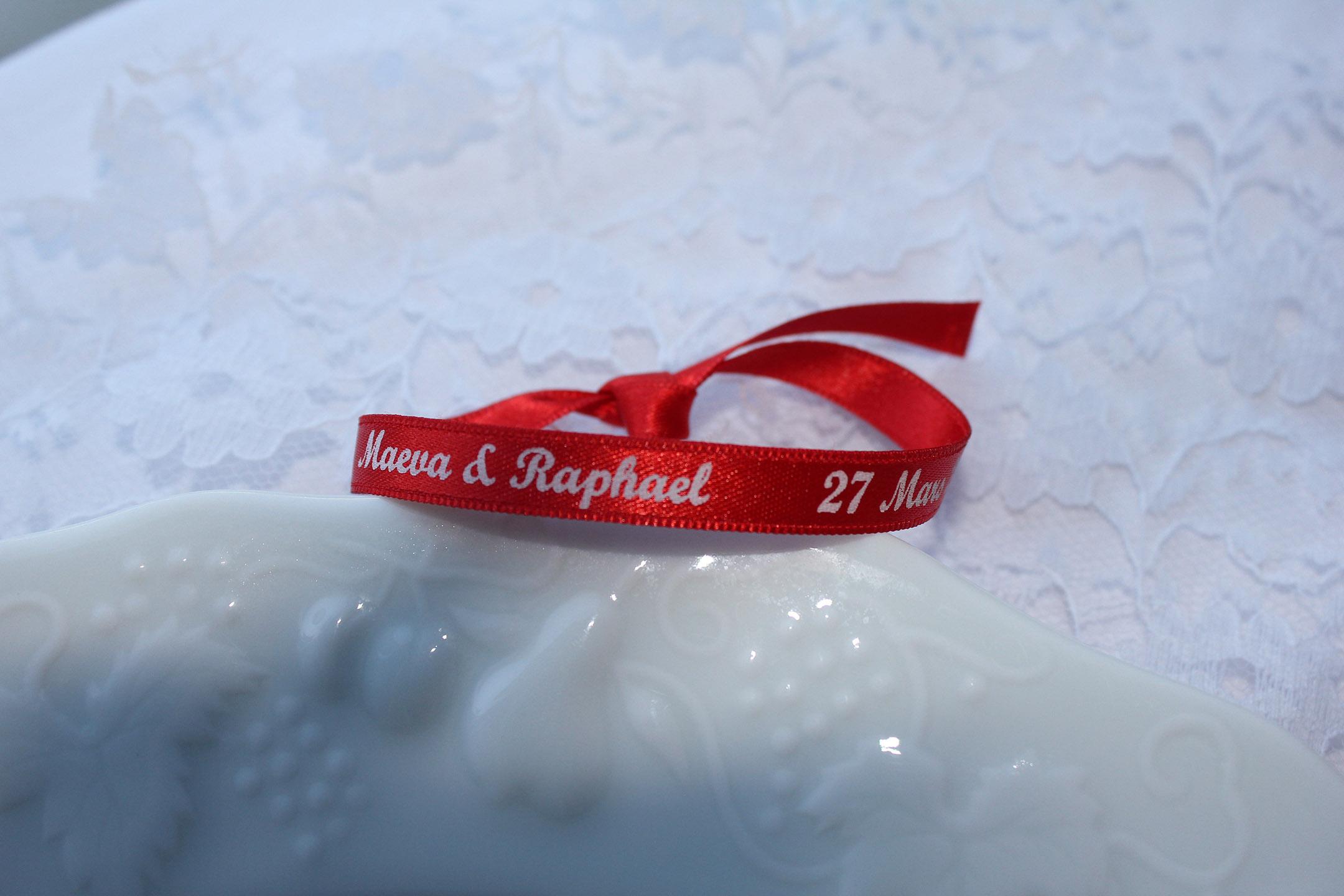 Idée mariage : optez pour le bracelet imprimé !