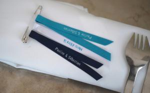 Un mariage ? Des rubans personnalisés pour vos goodies et petits cadeaux !